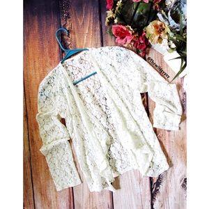 Anthropologie lace waterfall cardigan 🌵